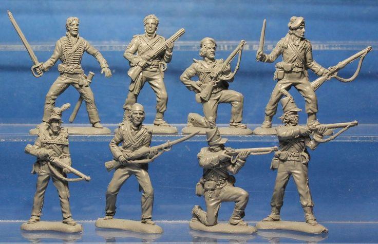 Plastic Toy Soldiers Napoleonic Wars British Army British 95th Rifle 1/32 54 mm | eBay