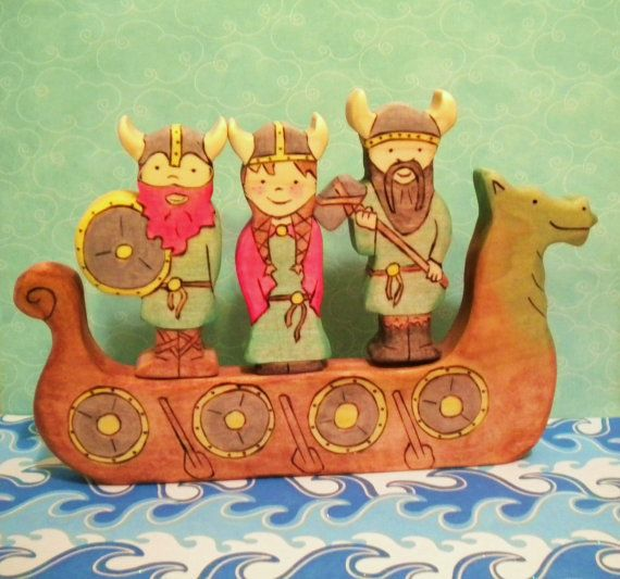 Love this cheery little Viking ship found on Etsy at the YoureInspired shop.  The boys may need it...