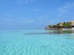 Isla Múcura en el Mar Caribe, archipiélago de San Bernardo. Colombia