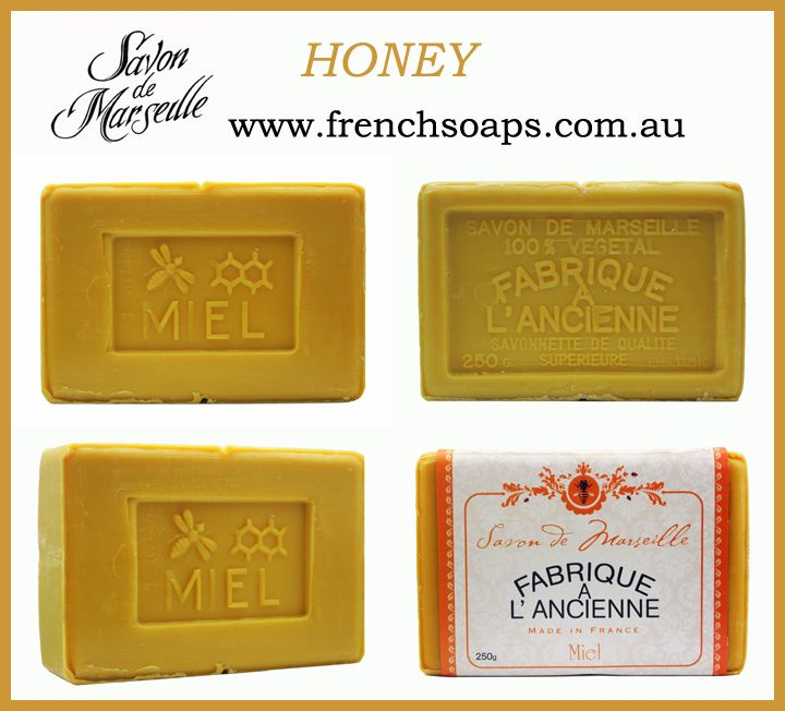 #Honey 250g traditionally #savondemarseille are world famous for their beautiful rich texture & long lasting fragrance. These wonderful #soaps are hand made & stamped using techniques used for over 400yrs. They're still cooked in cauldrons by a Master Soap maker using olive oils & salt water from the Mediterranean Sea. Once you use them you will be forever smitten by their rich, creamy lather & natural essentials oils…