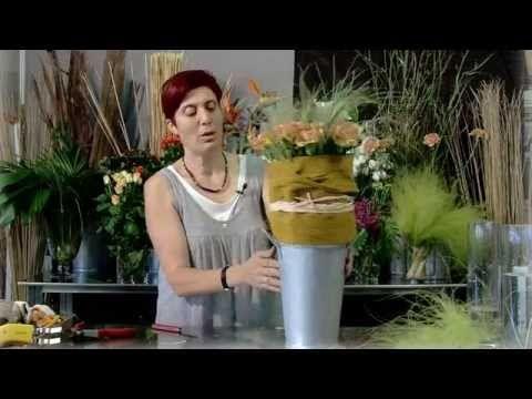 Trabajo floral Del naranja al amarillo - YouTube