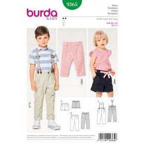 Schnittmuster - burda style - Bundfaltenhose mit Gummizug im Bund  – Hosenträger – Short