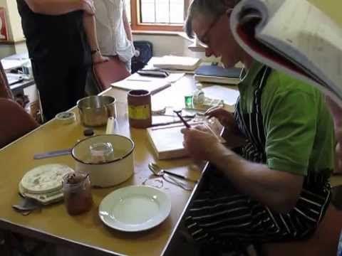 3 Aidan Hart applying bole for water gilding