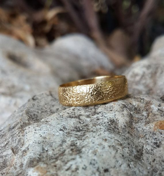 14k Gold plated ring in sterling silver by RawJewelleryDesign