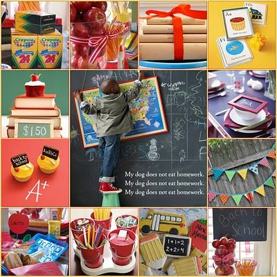 Great ideas for a back to school party.