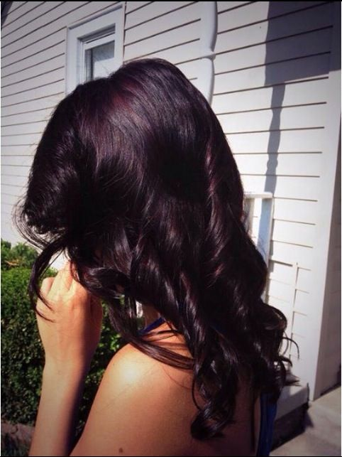 Purple reddish tint hair