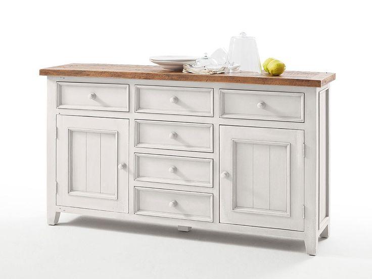 Biała komoda drewniana Alice 1