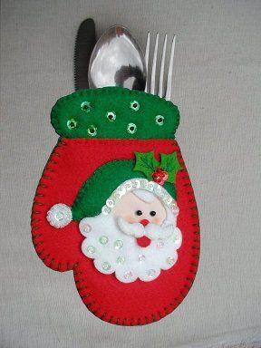 Portacubiertos navideños