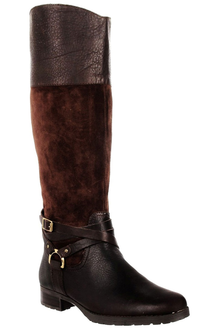 These are cute.  Love the leather/suede combination! Ralph Lauren Riding Boots In Brown!