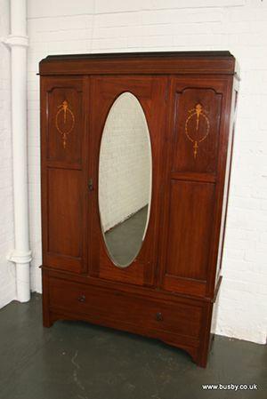 A mahogany Edwardian Sheraton revival cad...[Lot 239] - Busby Bridport Salerooms - 01308 420100