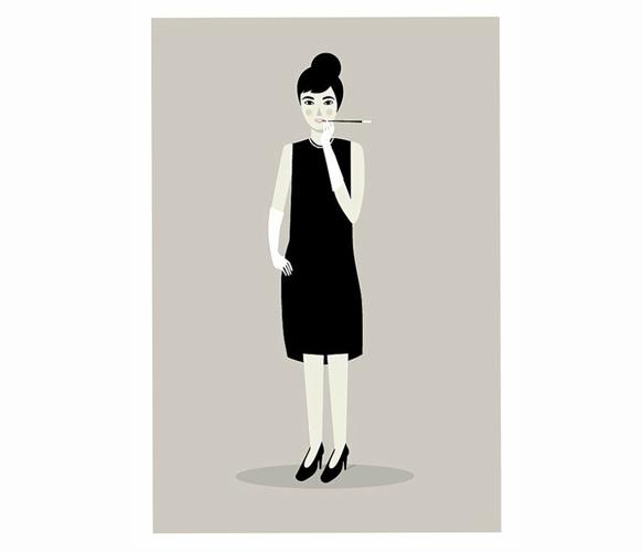Audrey Hepburn Print by Judy Kaufmann