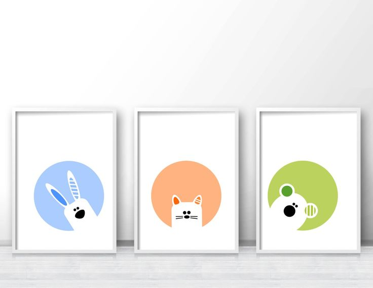 Cat Nursery Wall Art Printable Animal By Limitationfree