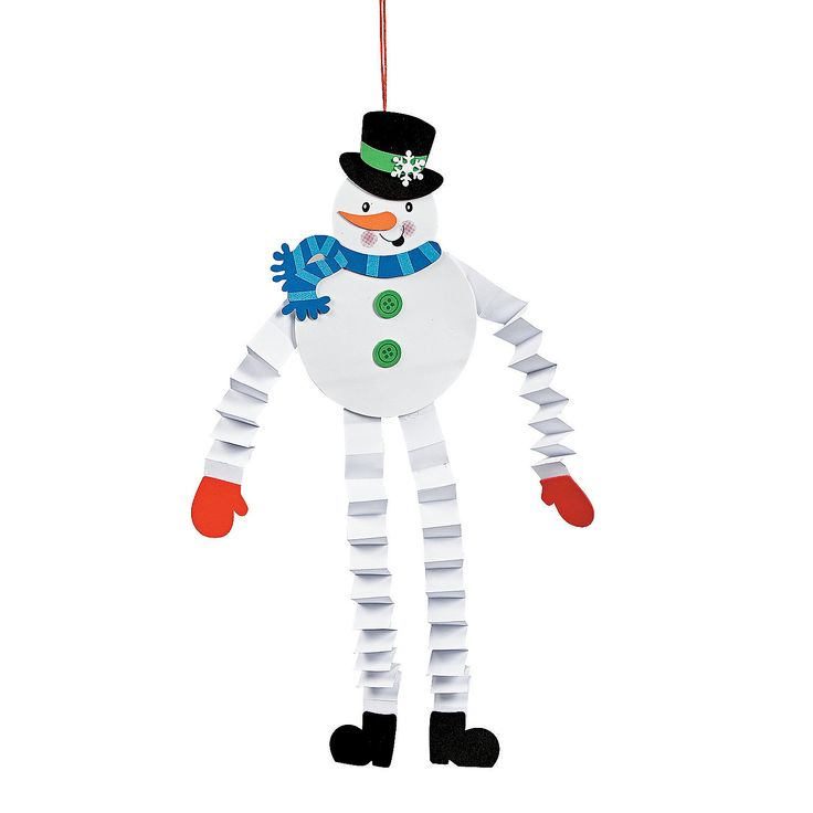 Accordion Snowman Craft Kit - OrientalTrading.com