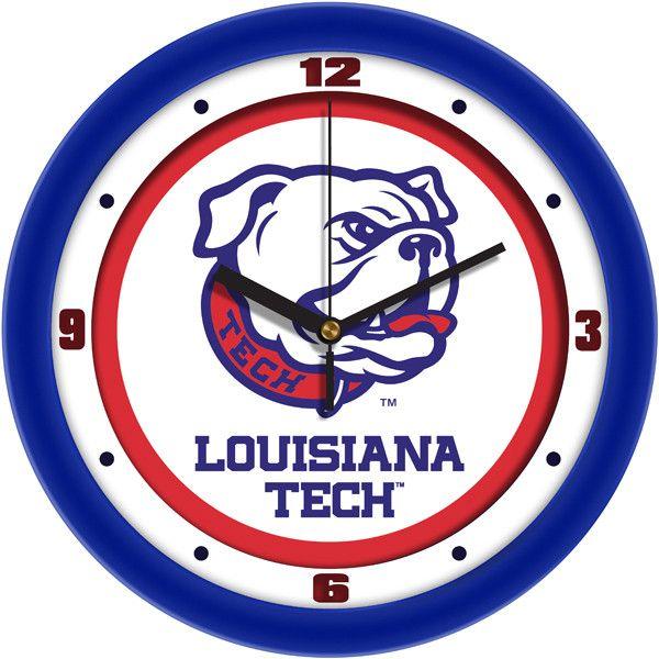 Mens Louisiana Tech Bulldogs - Traditional Wall Clock