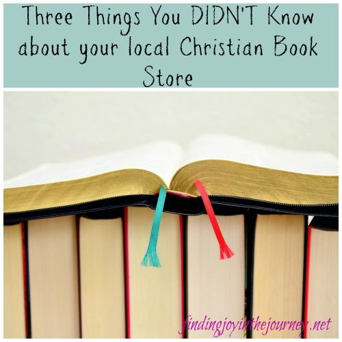 Does your town have a local Christian book store? If so read this post! There are three things you may not know about your local Christian book store!