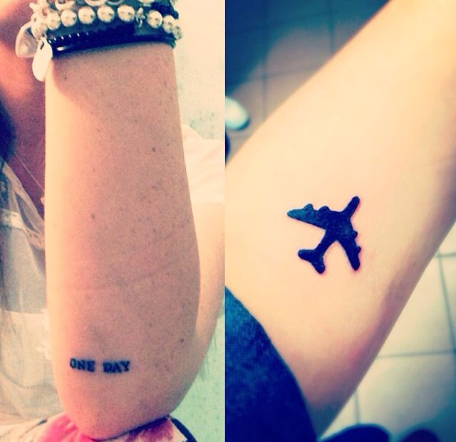 ONE DAY I'LL FLY AWAY  tattoo