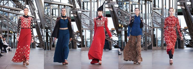 Looks from Shilpa Reddy Studio's Paris collection #pochampally fabric