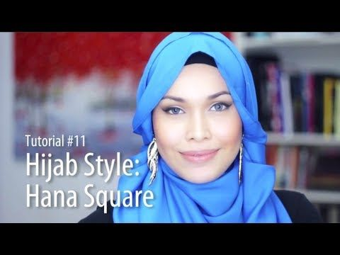 [Adlina Anis] Hijab Tutorial 11 | The Hana Square - YouTube