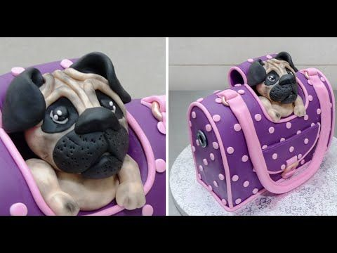 Handbag Style Pet Carrier Cake - How To by CakesStepbyStep - YouTube