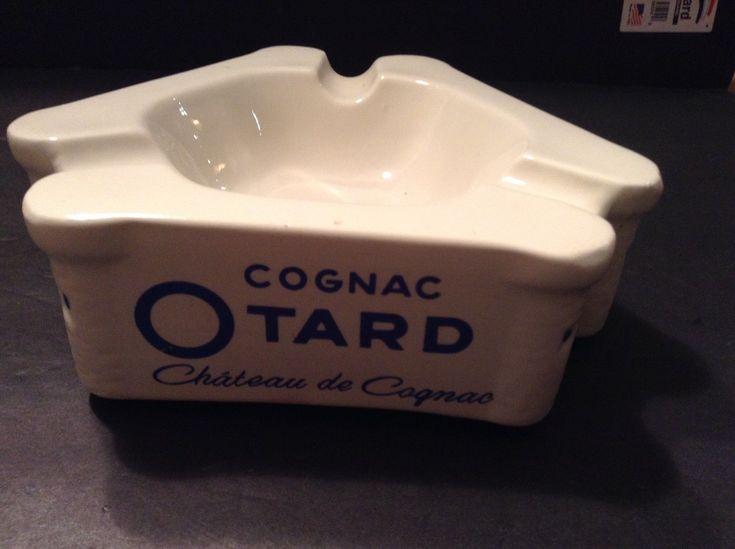 Vintage Otard Cognac Chateau De Cognac White Ceramic Ashtray, France