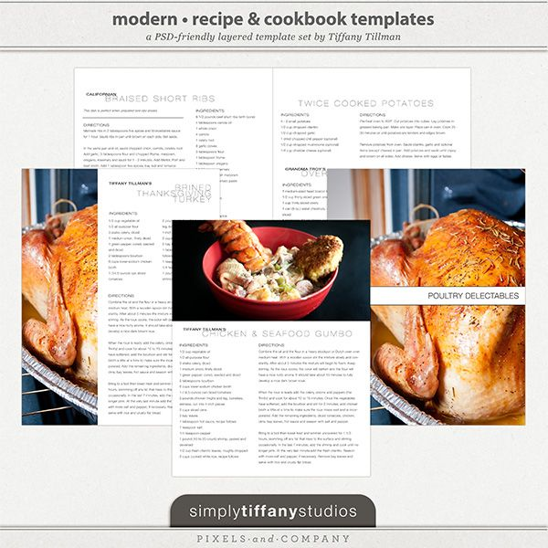 15 Best Recipe Designs Images On Pinterest | Cookbook Design
