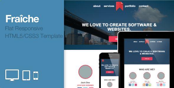Fraiche - Flat One-Page Portfolio Bootstrap Template - Portfolio Creative