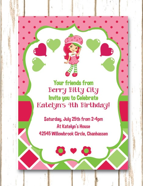 11 best great announcements invitations for kids images on berry bitty city strawberry shortcake birthday by thehoneybeepress strawberry shortcake birthdaybirthday party invitationsbirthday filmwisefo