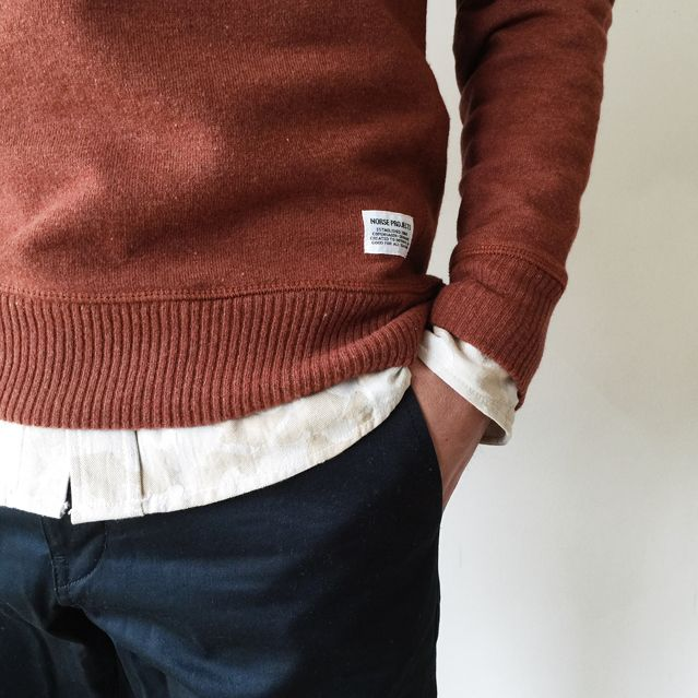 Norse Projects Gustav Crew Sweat (Burnt Havtorn)