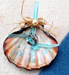 seashell instead of pillow for ring bearer