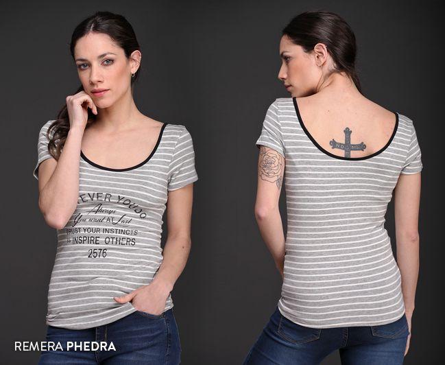 ¿Ya viste la Remera Phedra? #Tendencias #Rayas