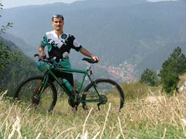 Meet Adrian and his beloved bicycle, which takes him to places like this, with views as beautiful as this :)