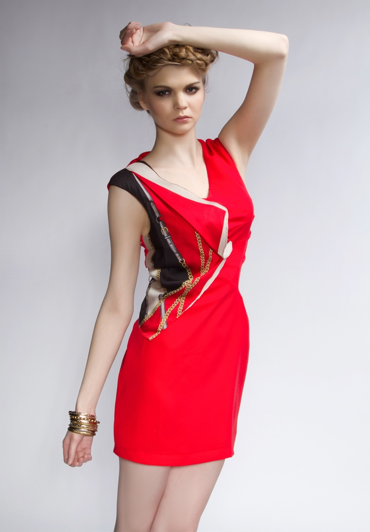 2012 style scarves v-neck sleeveless slim hip ladies dresses