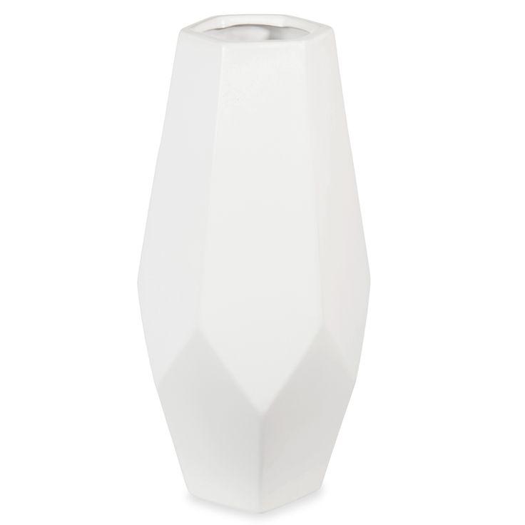 Vase en céramique blanc H 34 cm HANNELI