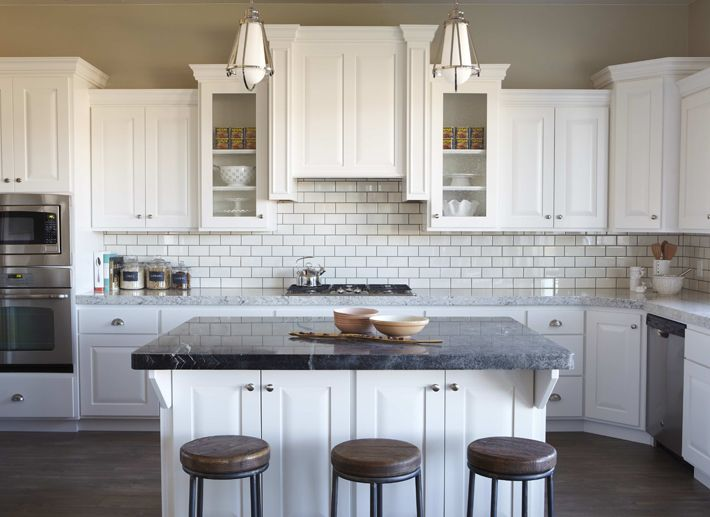 Add Some Crown Molding Above Cabinets And Leave Plain Street Design School:  How To Decorate Above Kitchen Cabinets)