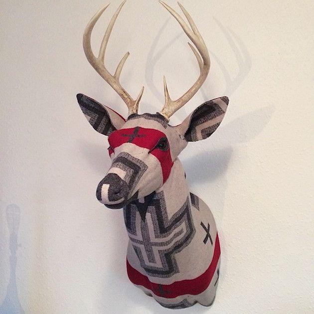 Faraway Lovely [Pendleton Deer Head] - more.. www.facebook.com/... design&craft