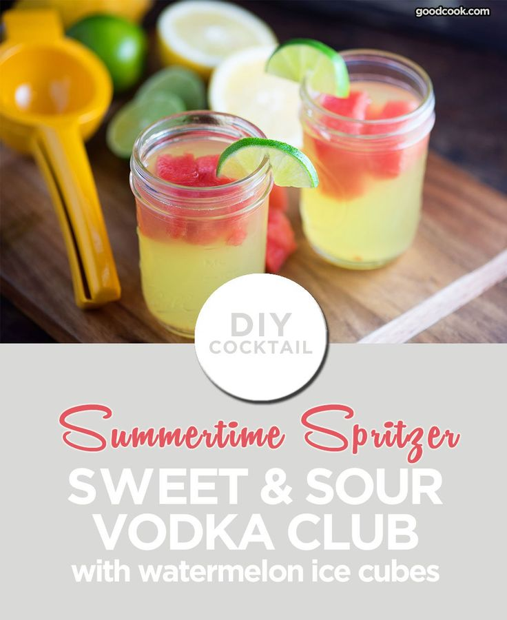 Make Ice Cubes from Watermelon with this Easy Vodka Club