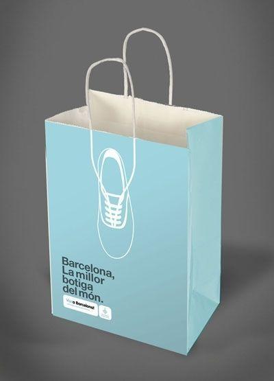 Creativo y sencillo, así es el diseño de estas bolsas de compras. #creativity #desing #bag