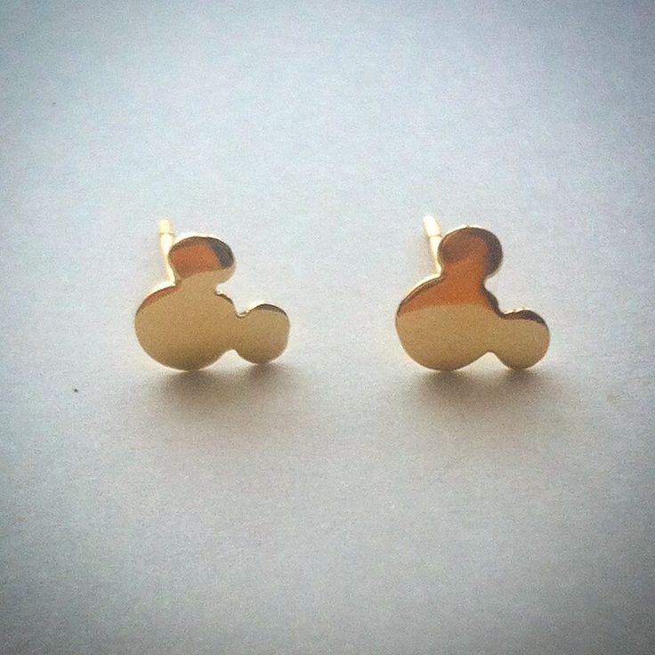 #mickey #aros #oro #gold #earings