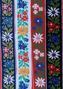 Tyrolean ribbons -- great components or embellishments on Crazy Quilts.
