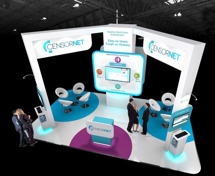7m x 4m exhibition stand design