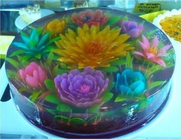 3D цветы в желе