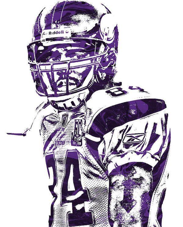 Randy Moss Minnesota Vikings Pixel Art 1 Art Print By Joe Hamilton In 2020 Minnesota Vikings Minnesota Vikings Football Minnesota Vikings Wallpaper