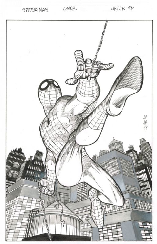 Amazing Spiderman 1.1 Cover by John Romita Jr and Tom Palmer, in George 1's Marvel Art Comic Art Gallery Room