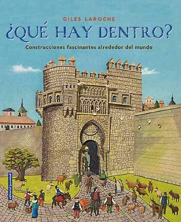 ¿QUÉ HAY DENTRO? Rascacielos, tumbas, castillos y grandes edificios de todo el mundo se presentan en este álbum ilustrado, en el que se examina cómo fueron construidos, y quiénes los construyeron y vivieron dentro de sus paredes. De la tumba del faraón Tutankamón en Egipto a un templo maya en México, del Alcázar de Segovia a las Torres Petronas en Malasia