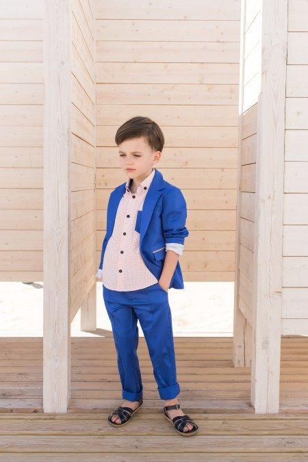 PepeandNika PepeNika Little apparel Paade Mode festliche Kindermode Design Anzug Jungen blau