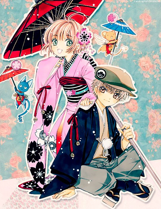 Sakura Kinomoto (木之本さくら) & Shaoran Li (李小狼)   Cardcaptor Sakura (カードキャプターさくら), CCS, Cardcaptors, Card Captor Sakura   CLAMP
