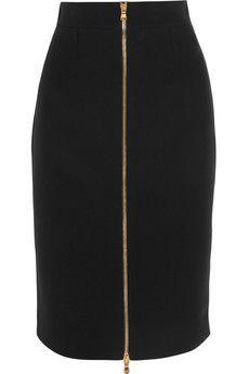 Work skirt. Zipper in front! Alexander McQueen Crepe pencil skirt