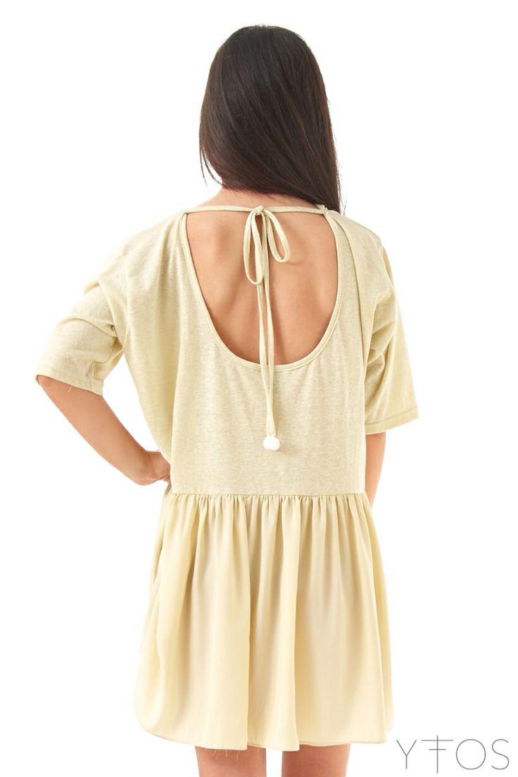 'Mas Palomas' Yellow Mini Dress by @Karavan Clothing Shop online at www.yfos.eu