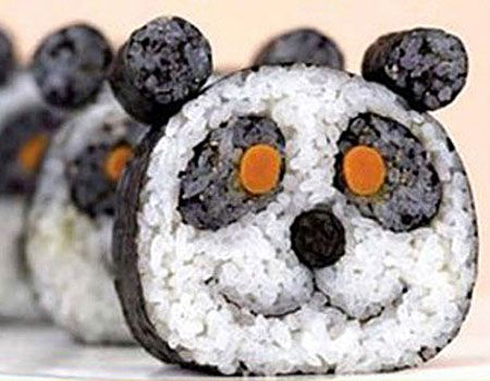 Panda sushi. Cute!