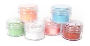 Třpytící prášek 6 barev mix 3